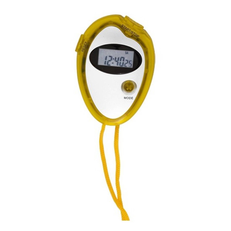Merkloos Voordelige sport stopwatch geel