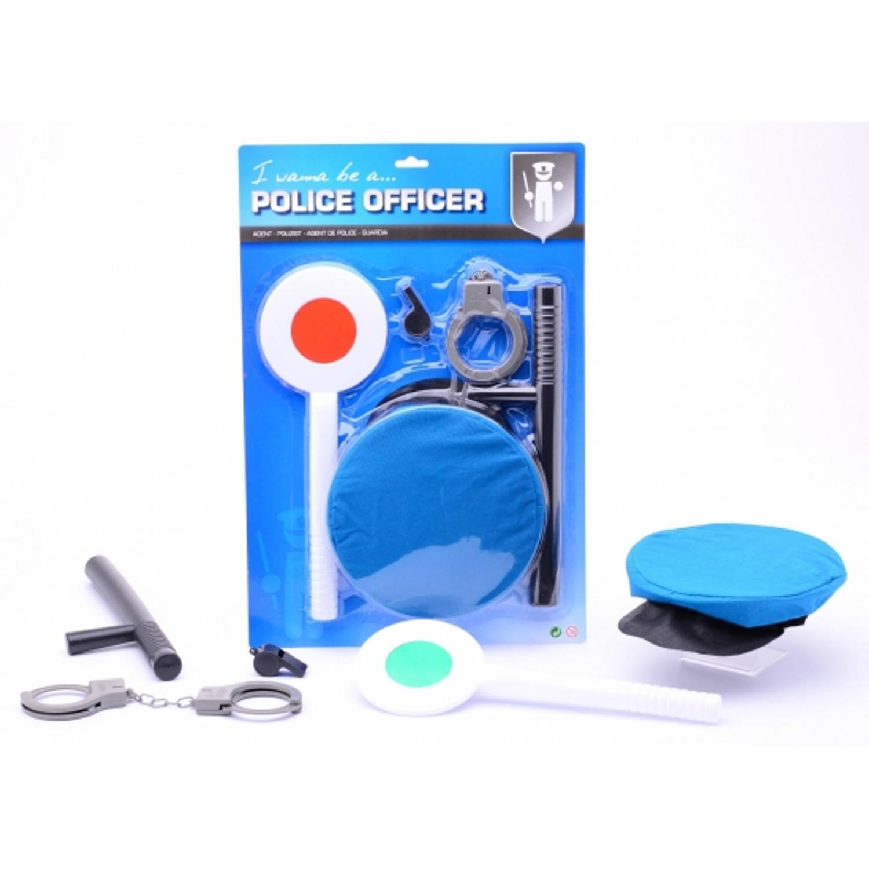 Politie speelgoed set 4 delig