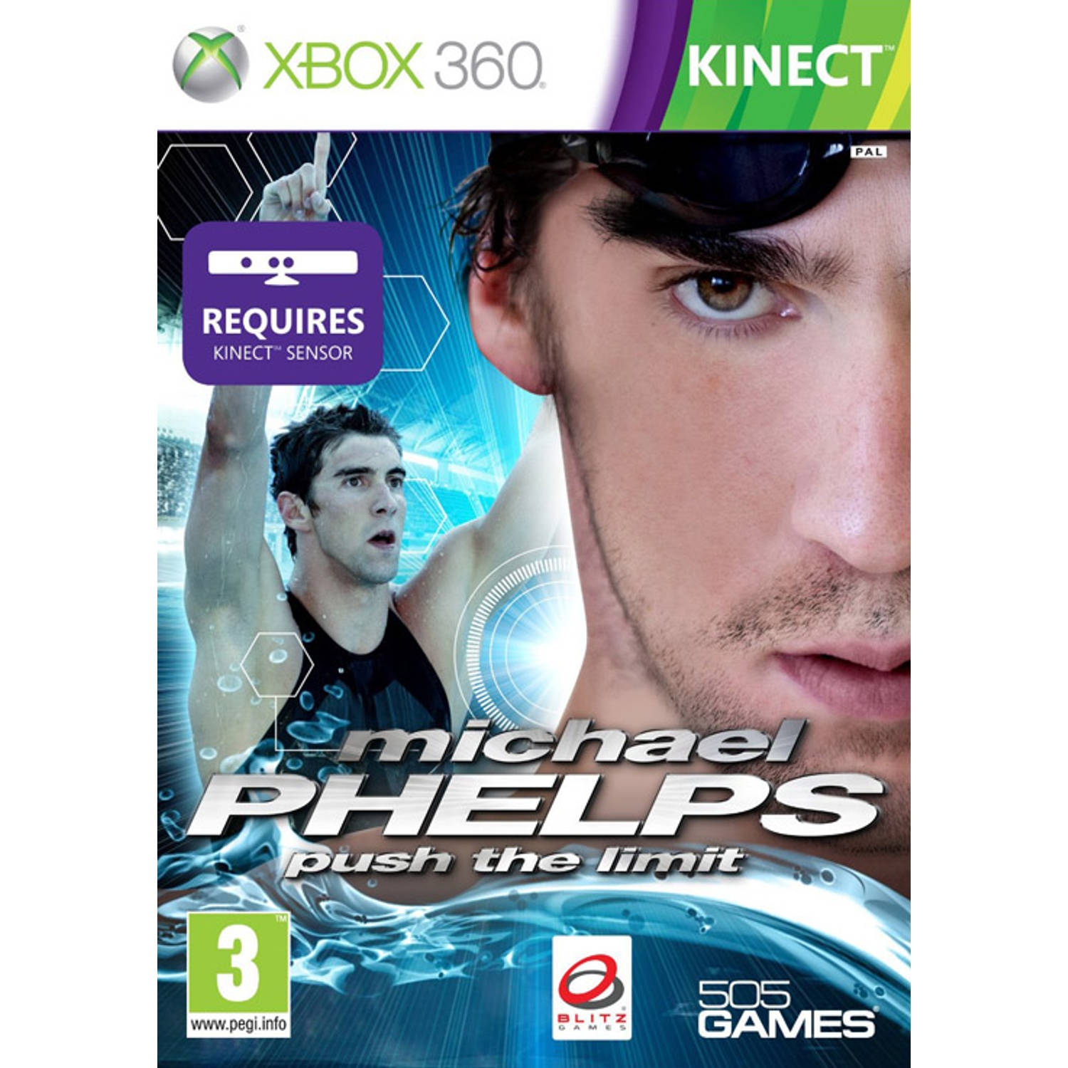Kinect Michael Phelps Push The Limit Game Xbox 360