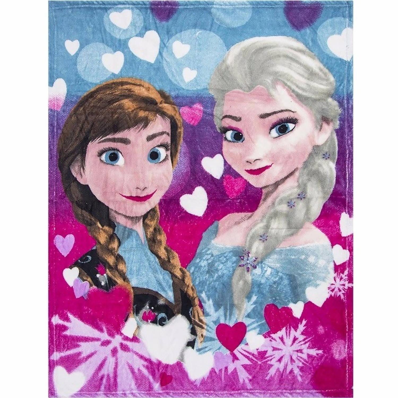Fleece deken Frozen Anna en Elsa 90 x 120 cm - plaid