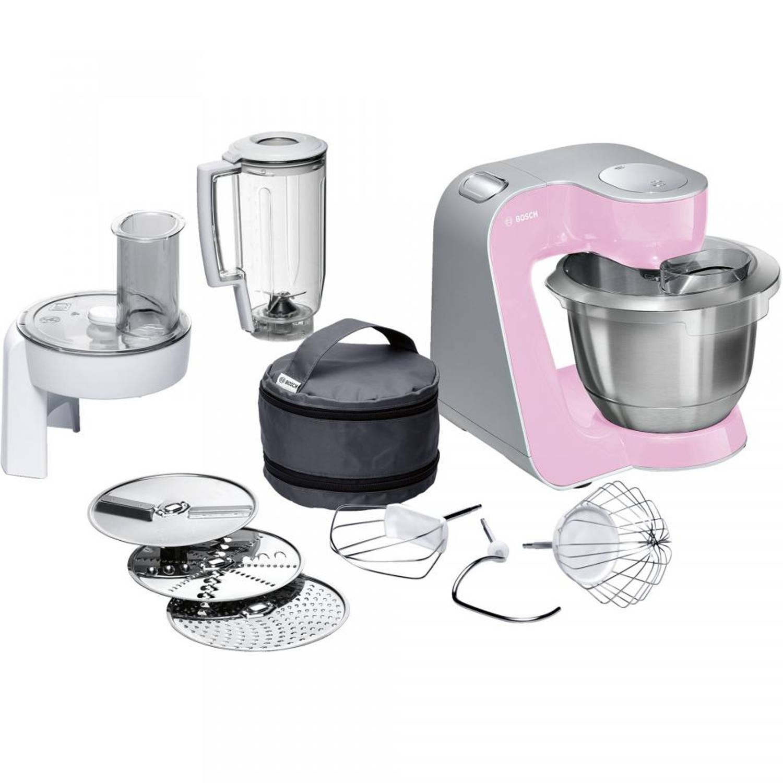 Bosch keukenmachine MUM58K20 - roze/zilver
