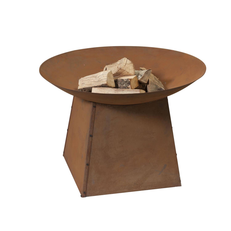 2l Home & Garden Vuurschaal 80cm Op Onderstel - Roest