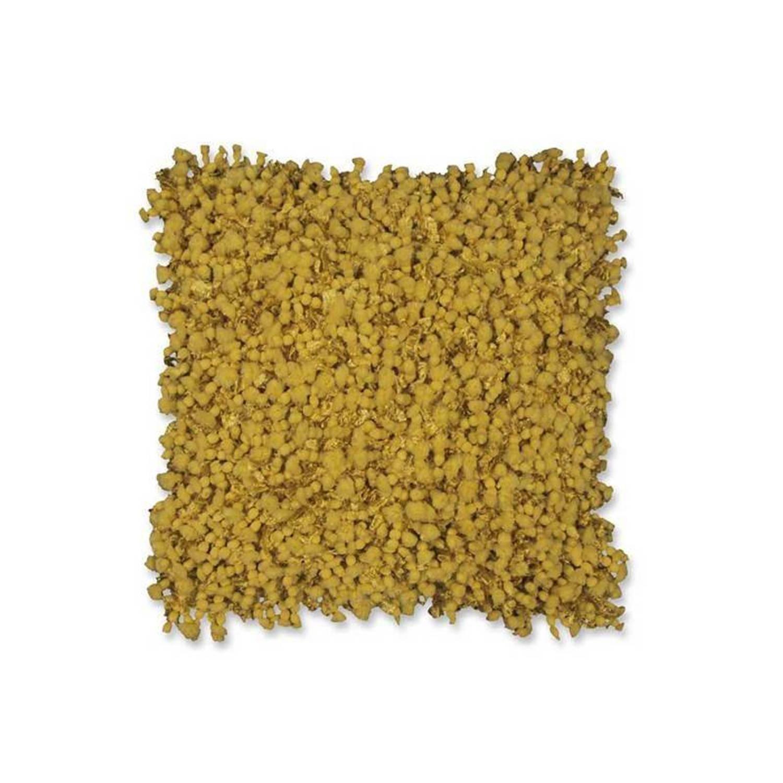 Unique Living Robine sierkussen - 70% polyester - 30% katoen - 45x45 cm - Geel