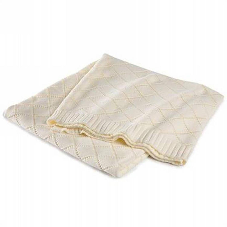 Cinderella Madeleine plaid - 100% katoen - 130x170 cm - Wit, Wool white