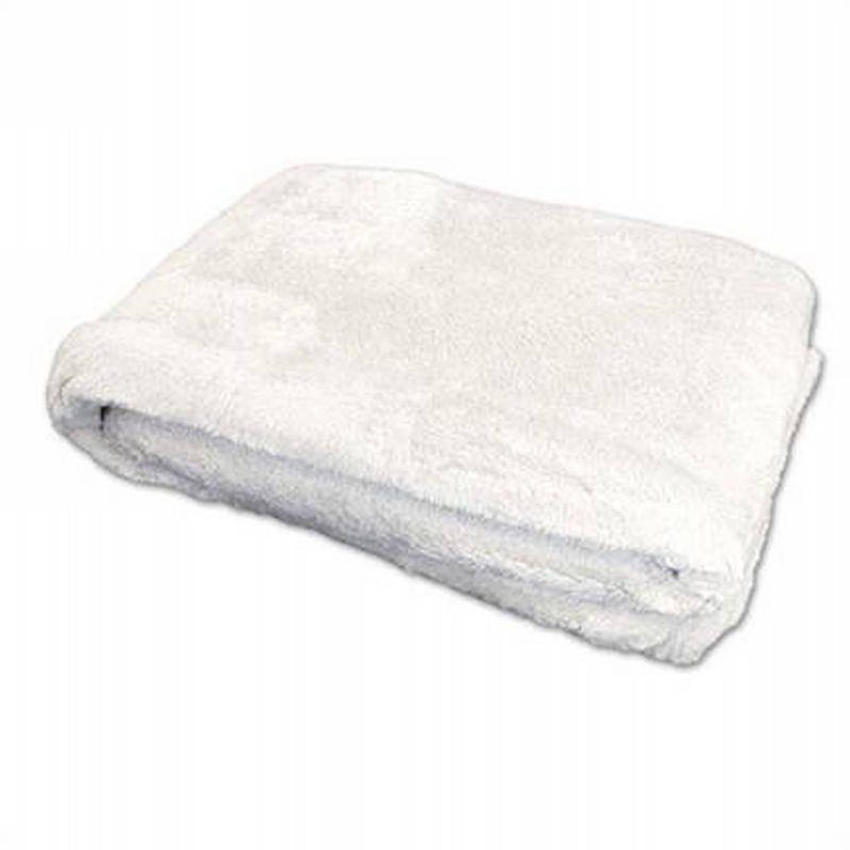 Unique Living Justin fleece plaid - 100% polyester, Fleece polyester - 150x200 cm - Wit
