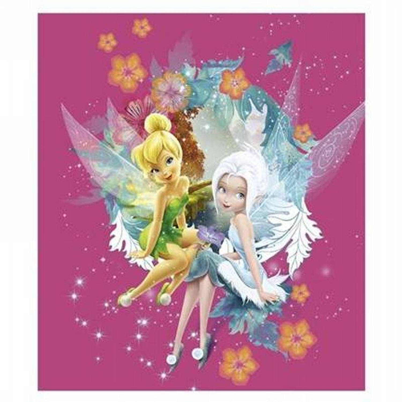 Disney Fairies fleece plaid - 100% polyester, Fleece polyester - 130x150 cm - Multi