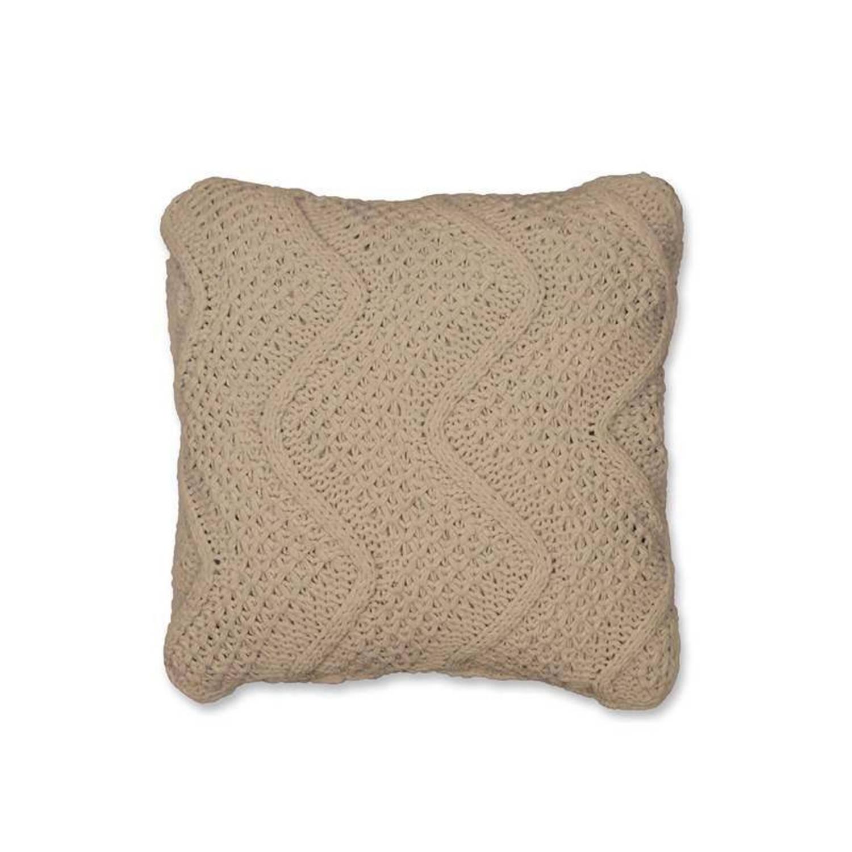 Unique Living Mio sierkussen - 100% polyester - 45x45 cm - Beige