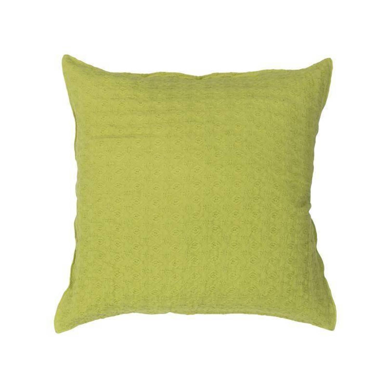 Heckett & Lane Vanity kussenhoes - 100% katoen - 50x50 cm - Groen, Lime Green