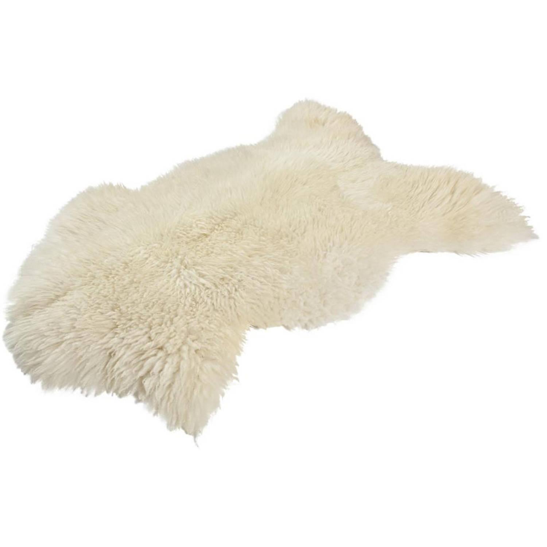 Dyreskinn schapenvacht - 90 x 110 cm - wit