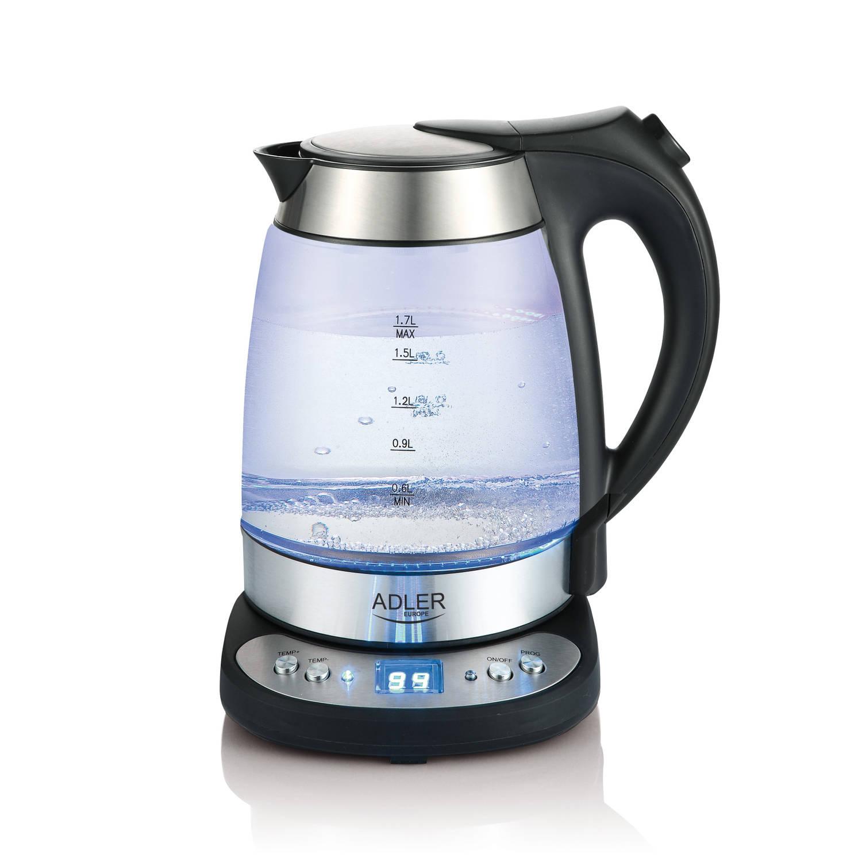 Afbeelding van Adler AD 1247 waterkoker met temperatuurregeling 1.7 Liter