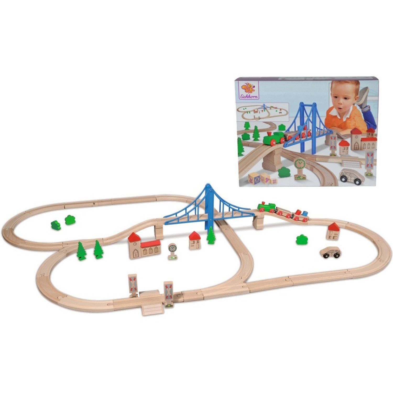 Treinset met brug