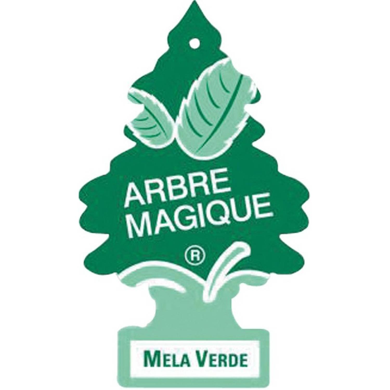 Afbeelding van Arbre Magique luchtverfrisser 12 x 7 cm Appel groen