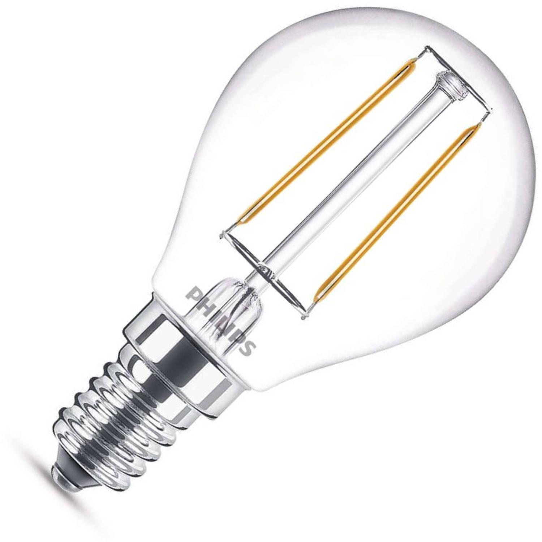 Philips kogellamp led filament 2,3w (vervangt 25w) kleine fitting e14