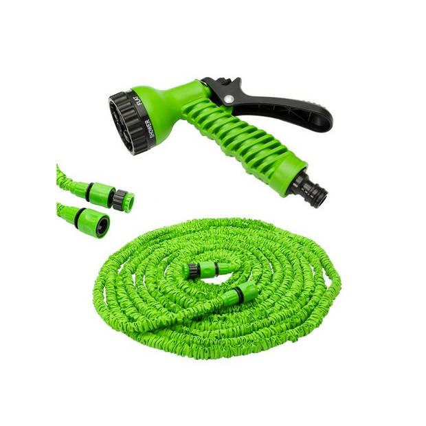 Flexibele elastische tuinslang magic hose 30 meter inclusief accessoires