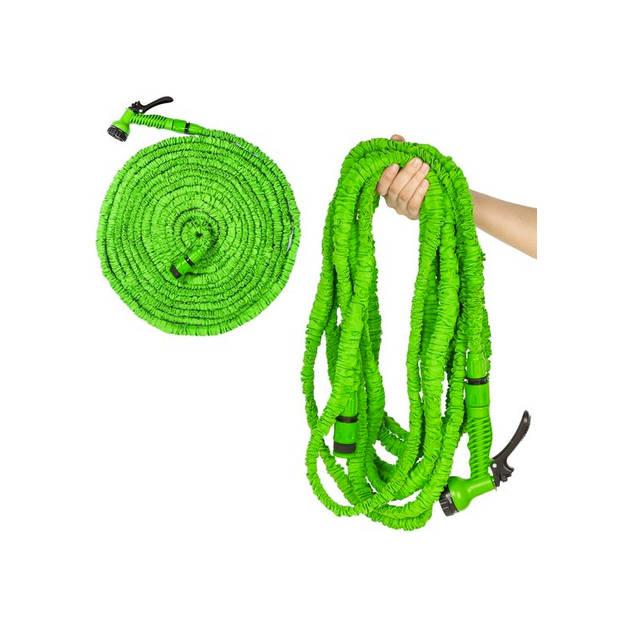 Flexibele tuinslang en bewatering 30 meter groen