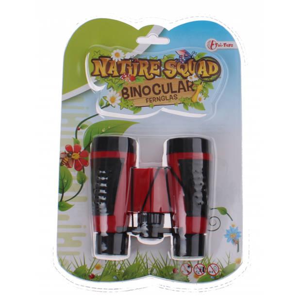 Toi-toys verrekijker nature squad rood 10 x 10 x 4 cm