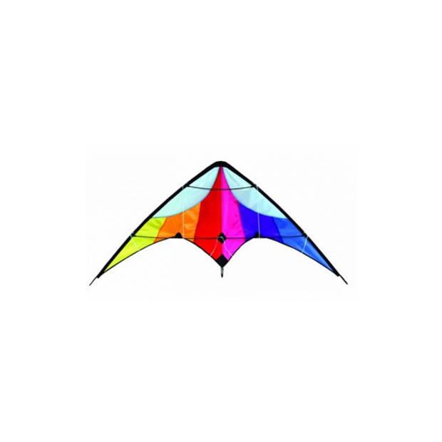 Delta stunt vlieger regenboog 130 x 60 cm