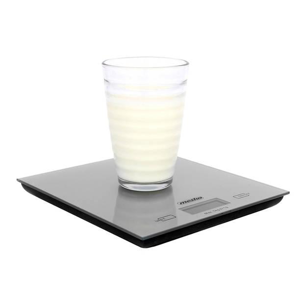 Mesko MS 3145 - Keukenweegschaal - digitaal - zilver