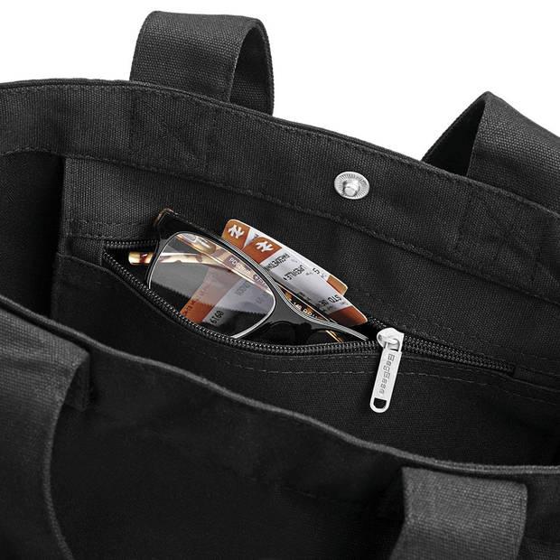 Bagbase Canvas Day Bag Zwart 15 liter