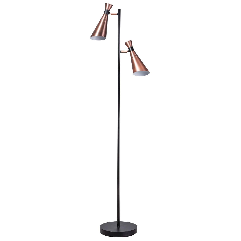 ETH Vloerlamp York - H151 Cm - Zwart - Koper
