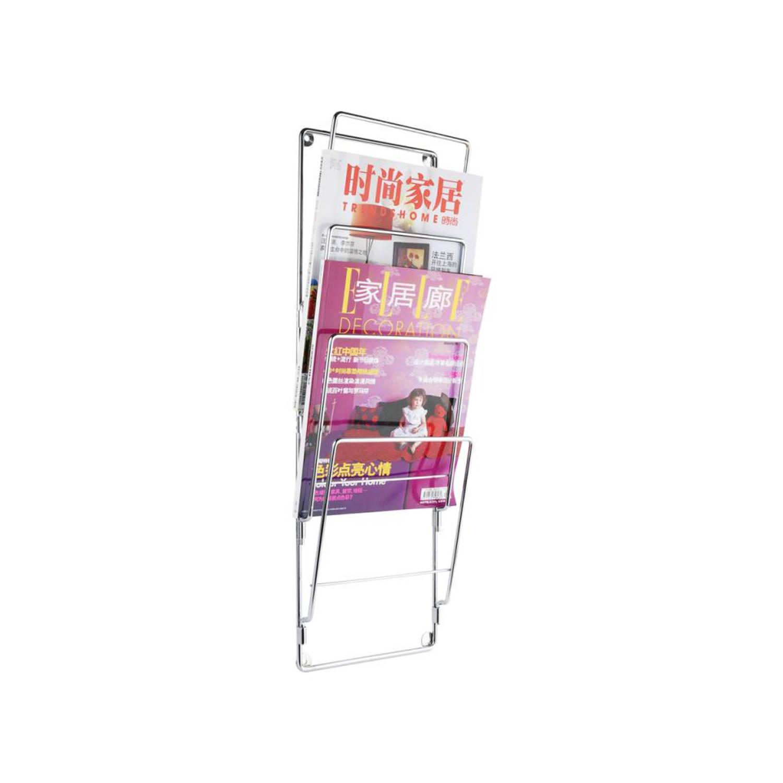 pt, Tijdschriftenrek 60 cm Chroom