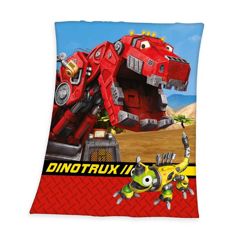 Dreamworks Dinotrux plaid - 100% polyester - 130x160 cm - Multi