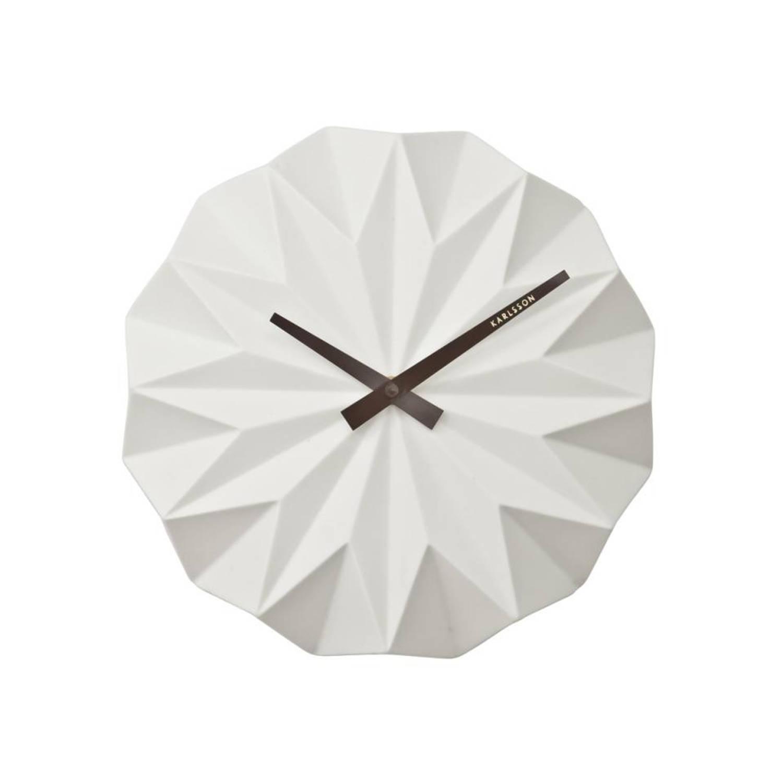 Karlsson Origami Wandklok Wit