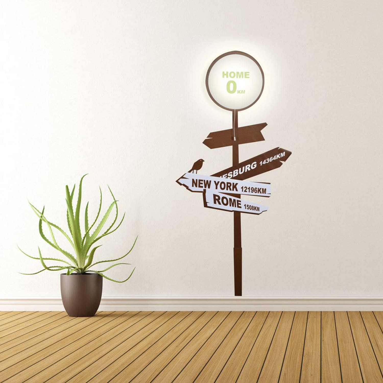 Home Sign Wall Light and Wall Sticker