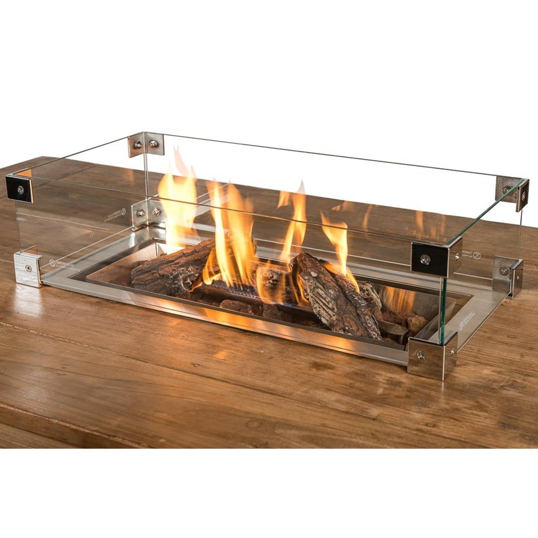 Happy Cocooning Glas Ombouw Inbouwbrander Rechthoek Groot 100x33x17 Cm