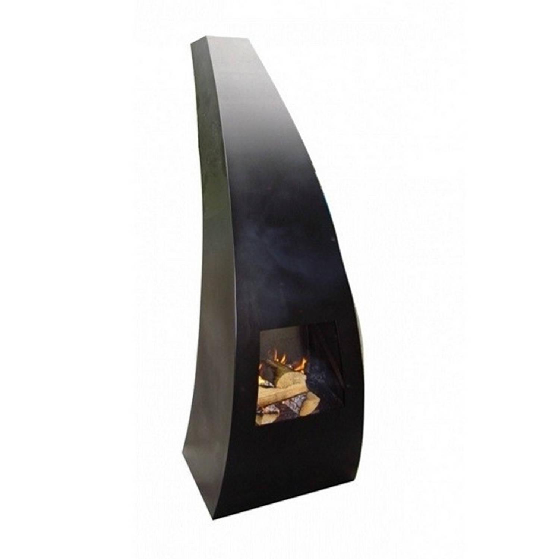 Gardenmaxx maca-klein tuinhaard 45x40x120 cm. Zwart