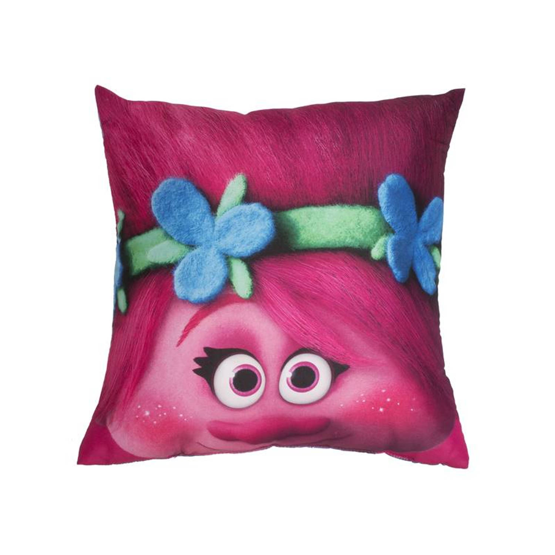 Dreamworks Trolls sierkussen - 100% polyester - 40x40 cm - Roze