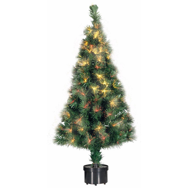 Kunst kerstboom met fiber licht 60 cm