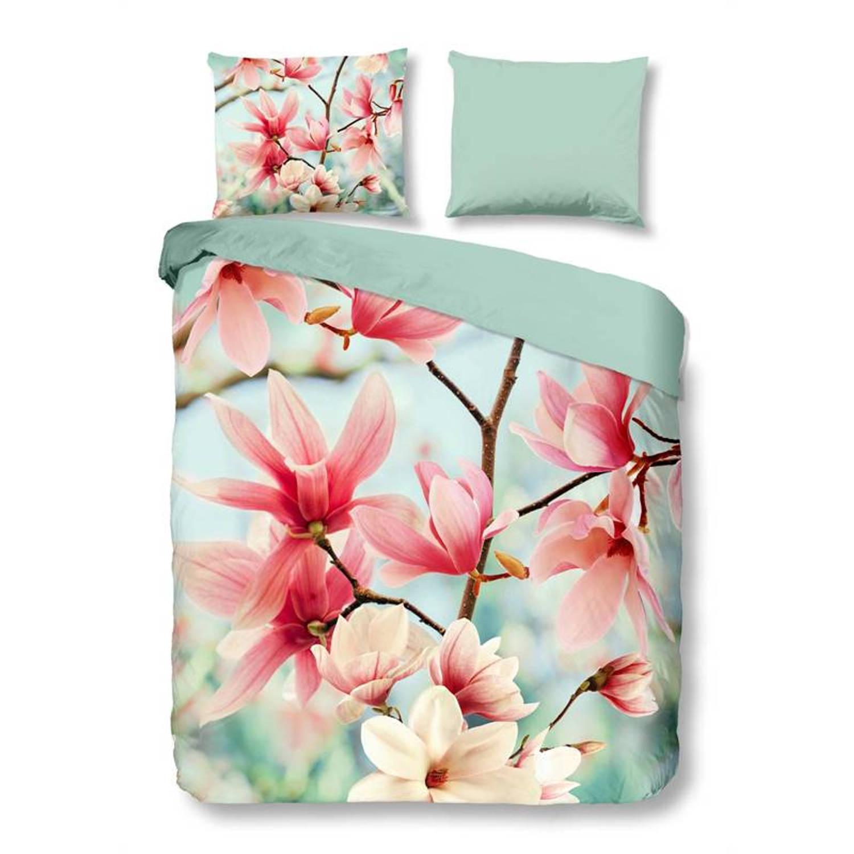 Snoozing magnolia dekbedovertrek - 1-persoons (140x200/220 cm + 1 sloop)