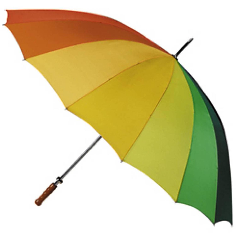 Korting Falcone golfparaplu regenboogkleuren