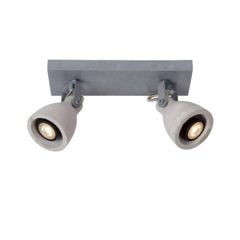 Lucide Concri Plafondlamp Led Grijs 2 Spots