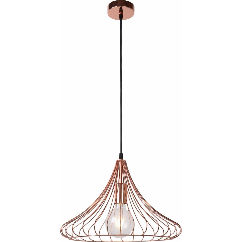 Lucide verstelbare hanglamp vinti 1-lichts ø39.5 x h26 cm - metaal rood koper