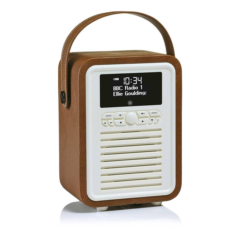 View Quest Retro Radio Mini DAB+ Bluetooth Wekker Bruin