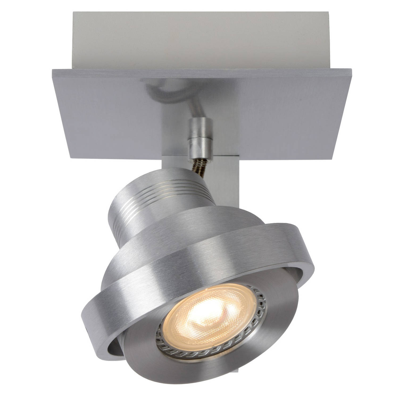 Lucide plafondspot landa 1-lichts - dimbare led - aluminium