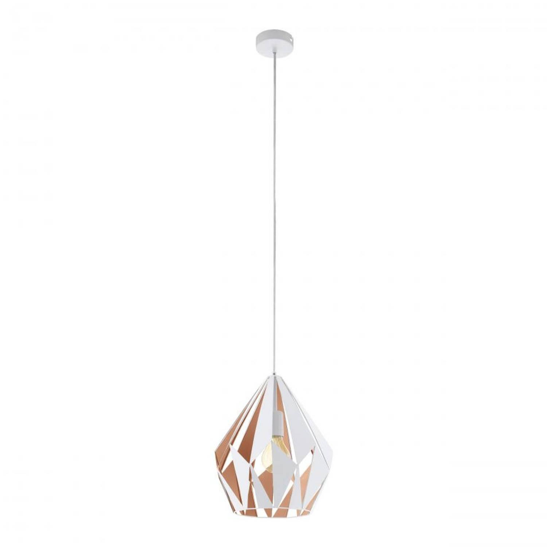 EGLO Carlton 1 hanglamp - wit/roségoud