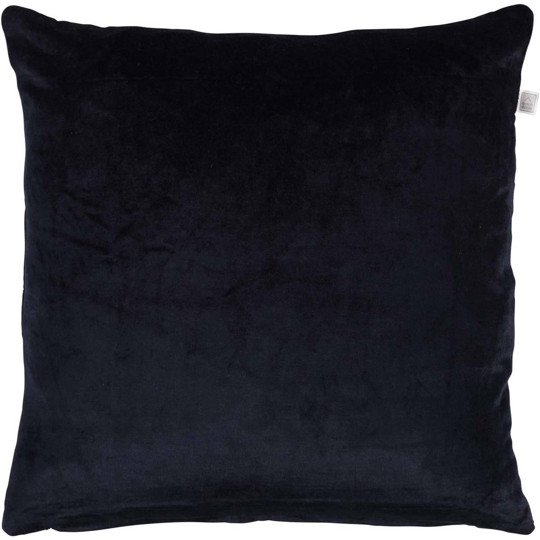 Dutch Decor Kussenhoes Cido 45x45 cm zwart