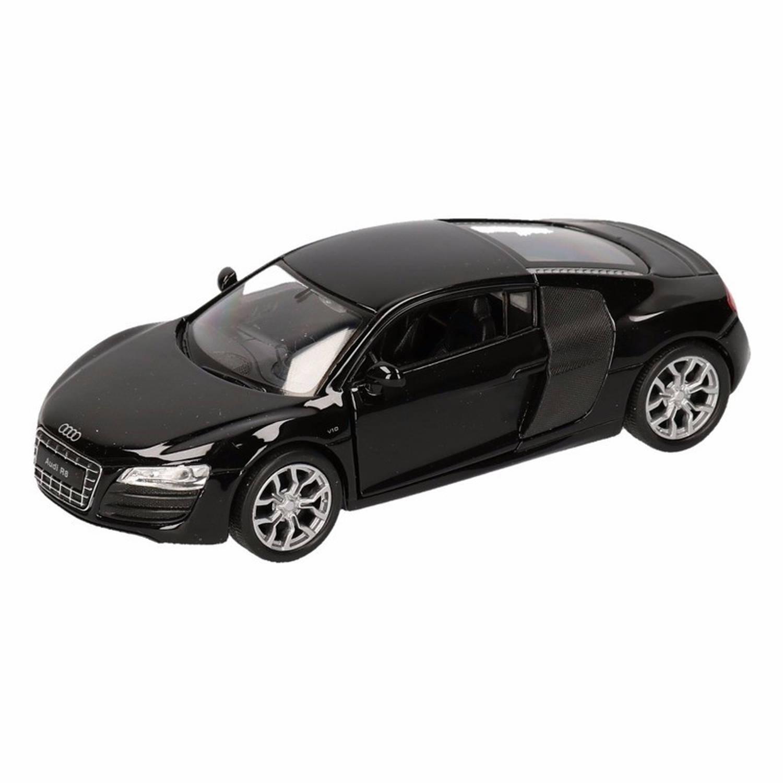 Afbeelding van Speelgoed zwarte Audi R8 auto 1:36