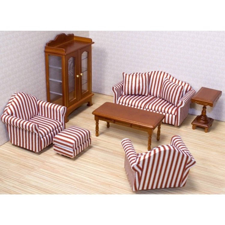 Victoriaans poppenhuis woonkamer meubels blokker for Meubels poppenhuis