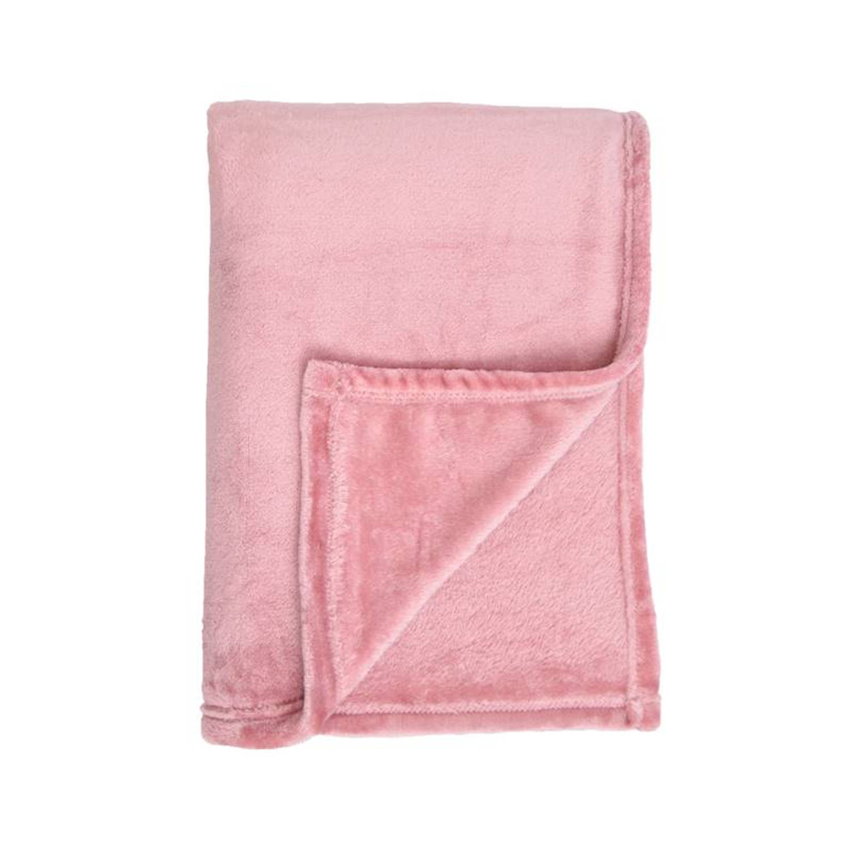 Unique Living Blush fleece plaid - 100% polyester, Fleece polyester - 150x200 cm - Paars, Mesa Rosa