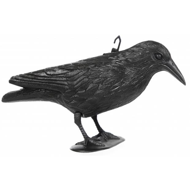 Zwarte plastic kraaien/raaf van 36 cm