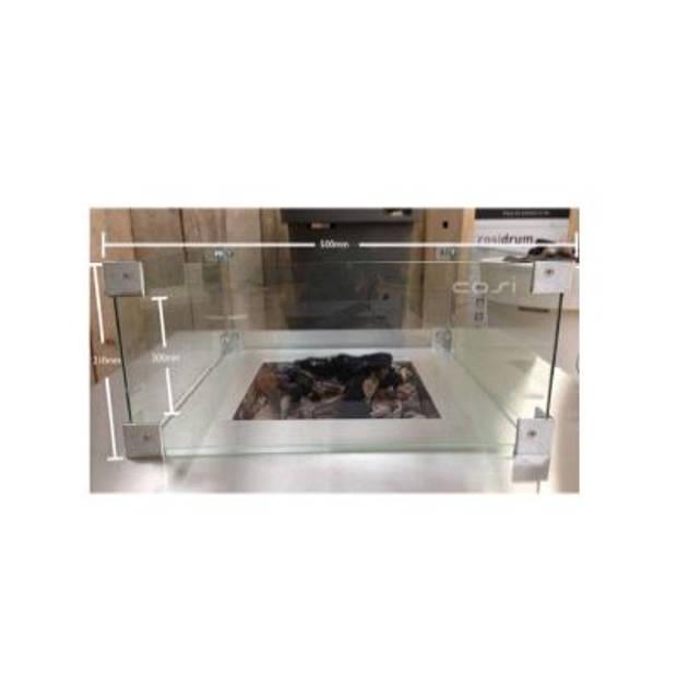 Cosi glazen ombouw straight 70x33x17 cm