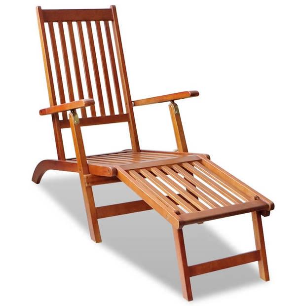 Ligstoel voor in de tuin (acacia hout)