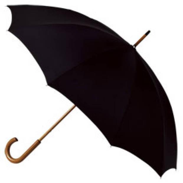 Falcone klassieke heren paraplu - zwart