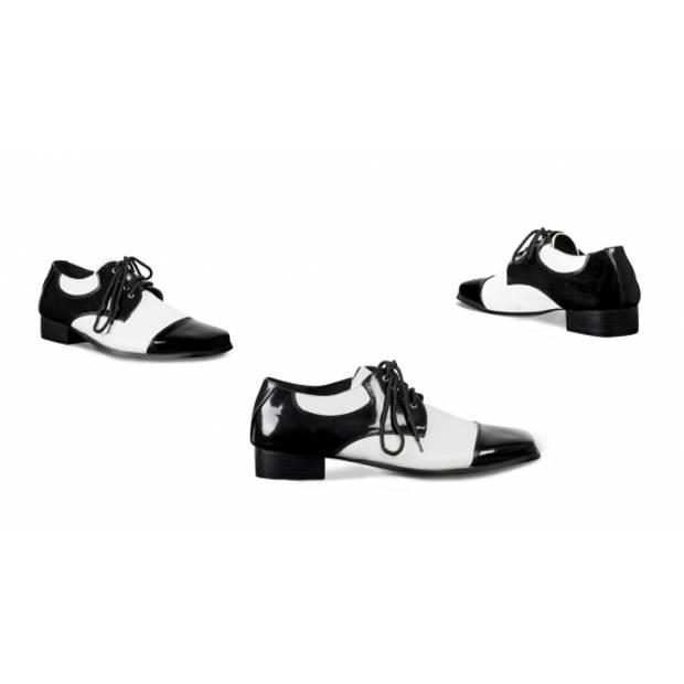 Gangster heren schoenen zwart wit 40-41