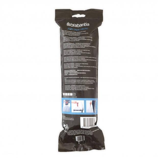 Brabantia PerfectFit afvalzak met trekbandsluiting code J, 20-25 liter, 20 stuks/rol - White