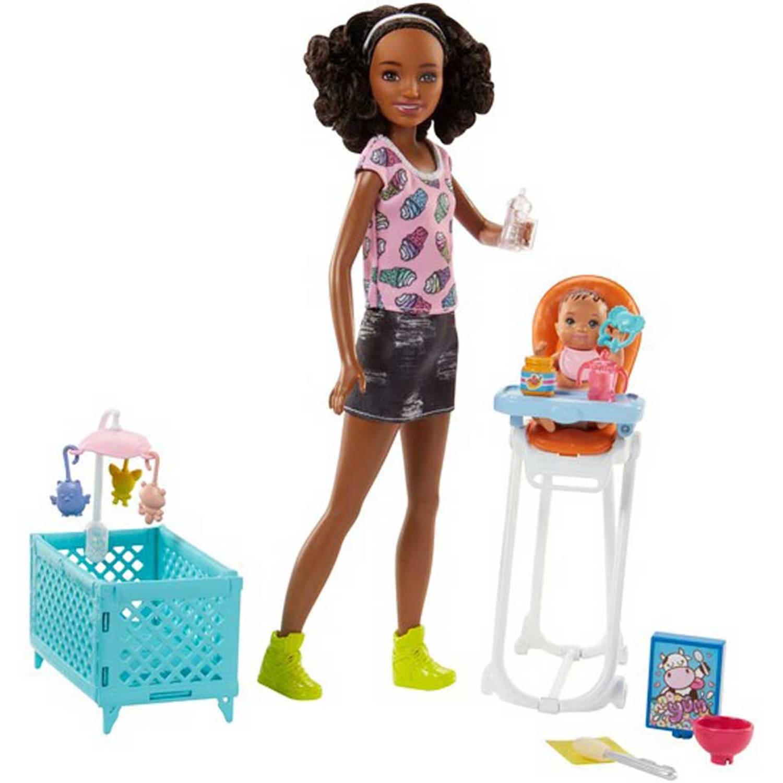 Barbie Babysitter eetstoel set